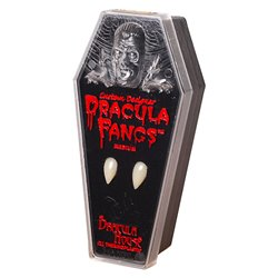 "Dracula-Zähne, 2 Stück ""medium"" + 1 GRIMAS Tubenblut gratis"