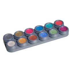Pearl-Water Make-up-Palette mit 12 Farben