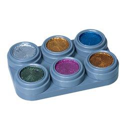 Metallic Water Make-up-Palette mit 6 Farben
