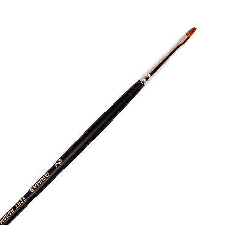 Rotmarder-Flachpinsel Nr. 2