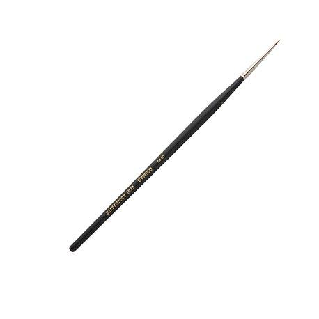 Marder-Rundpinsel Nr. 00, kurze Haare