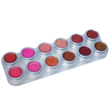 Lippenstiftpalette pearl mit 12 Farben