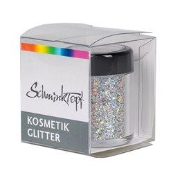 Polyesterglitter mit Hologrammeffekt silber