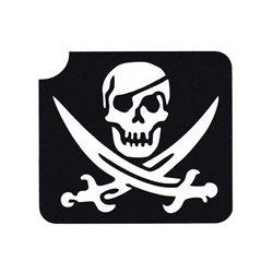 "Glitzertattoo-Schablone ""Pirat"""