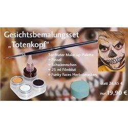 Gesichtsbemalungs-Set Totenkopf