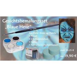 Gesichtsbemalungs-Set Blaue Hexe