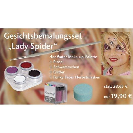 Gesichtsbemalungsset Lady Spider