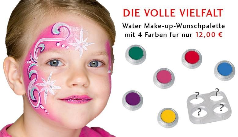 Water Make-up Wunschpalette mit vier Farben